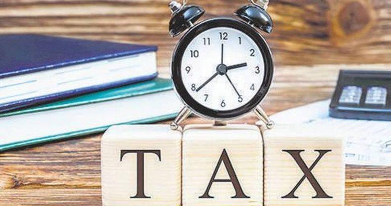 折り返し地点で税金計算