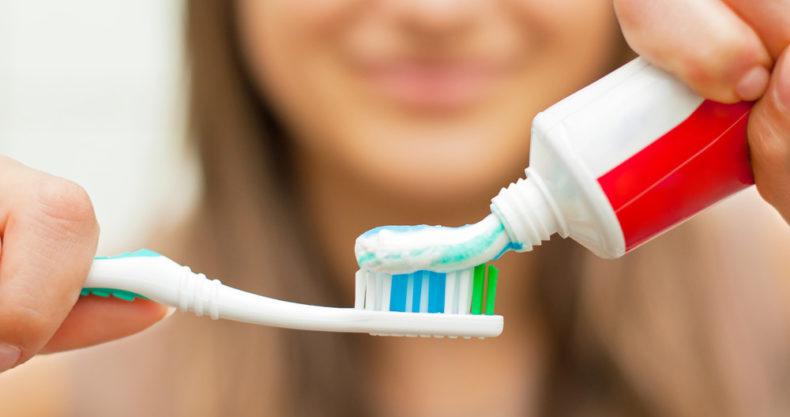 teeth brushing routine